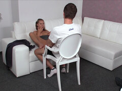 Naughty agent Zuzana Z banged by young model