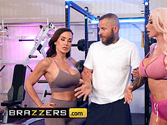 Brazzers - pornography legends Lisa Ann & Nicolette Shea share pink cigar