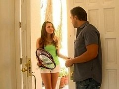 Allie Haze giving head her friend's brother