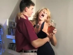 Blonde milf slut Bridget is coveting to handsome guy