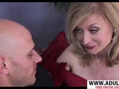GILF in black gloves Nina Hartley hot porn video