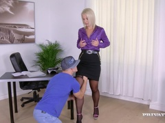MILF Secretary Luci Angel Fucks Hard