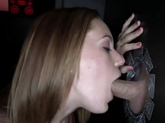 Gloryhole cocksucker swallows anonymous cum