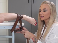 Sadistic Lady Doctor Binds and Spanks Female Patient, Part 1