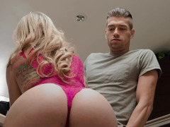 Blonde Kali Roses catches the moment to seduce Xander Corvus
