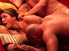 Amateur swinger reality show fucking group orgy