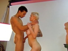 Dutch boobalicious chick gets down and dirty a big cock