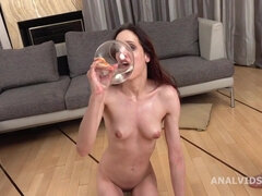 Skinny Babe Mia Brutally Assfucked DP Mmf pissing drinking