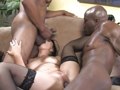 Ally Style Backdoor And plus Double Penetration With Black Purple pole