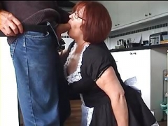 Velmadoo the French maid gagging on flag pole part 1