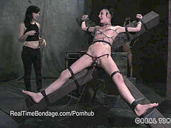 Petite Punk bdsm bi-atch Lit Up Like a Xmas Tree with electrical Torture