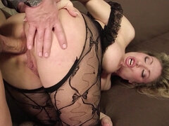 Blonde woman got fucked in many positions