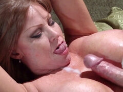 Milf Darla Crane gets deep fucked then titjobs the cock for a cumshot