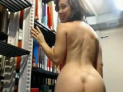 FC Undressing in Library