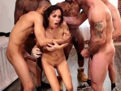 Interracial real hardcore orgy bondage for tiny sub