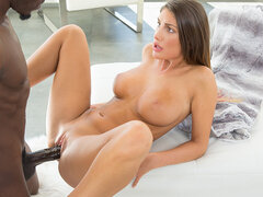HOT August Ames has fun on vacations with BBC outdoor by the pool