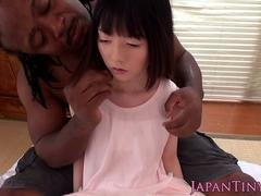 Tiny asian broad oral pleasured and fingered