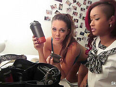 behind-the-scenes with Alison Tyler & skin Diamond