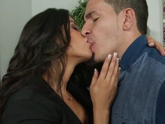 Veronica Rodriguez is fucked hard and spunked over in the office