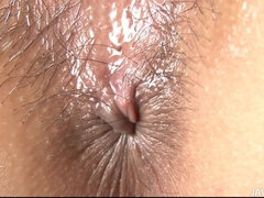 Ambrosial hairy Mirai performing in incredible masturantion