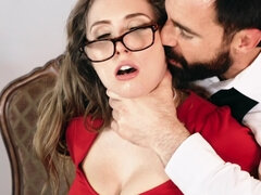 Brunette wedding planner gets banged by the hung groom