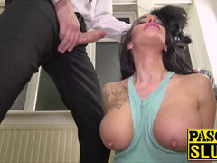supah super-fucking-hot subslut choked and pussy disciplined by Pascal