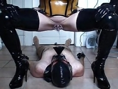 Rubber slut - taking a leak & banging - part 3-6
