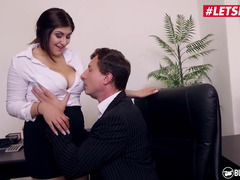 Male is the boss here so he can fuck secretary