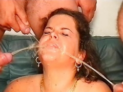 Fisted and also Footed in Sofa, mouth Weeing and also Facial cumshot