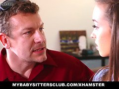 Cute nanny lily ford screws hot chief
