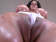 Oiled woman needs a good fuck