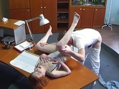 Non-professional european pussyfucked by doctor after exam