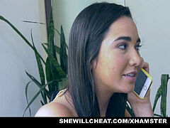 SheWillCheat - Hot wife absorbs Trainers boner