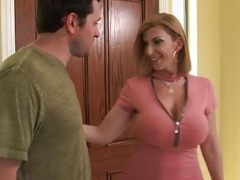 Sara Jay swallows a ride-share drivers load! Slutty America