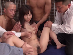 Japanese doll is surrounded by cocks and needs to t