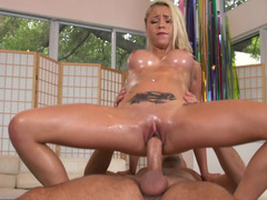 Oiled sweetie Marsha Might banging his nine inch phallus