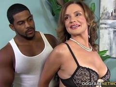 Boobalicious Cougar Rebecca Bardoux Loves BBC Backdoor