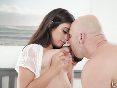 Awesome big-boobed brunette Ella Knox screwed by a very hard dick