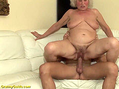 super-naughty 75 years elder grandma first porn movie