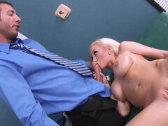 Madison Scott gets covered in oil & fucked in her doctor's office