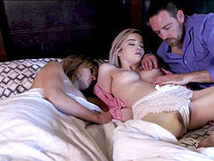 Lexi Lore gets pounded by parent while sister is asleep!