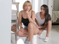 Sensual teens Marilyn Mansion and Victoria Vargaz are getting fucked