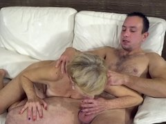 Stallion used to help people and thrusts cock in mature neighbor