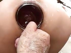 Brutal rectal h&balling & bottle fucked amateur Latina