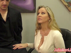 splendid Milf Julia Ann milks Him on appointment Night!