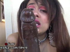 brutal interracial deepthroat - POV blowjob with big black cock
