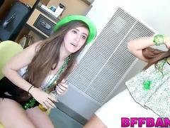 Drunk whores get their muffs drilled on St Patricks Day