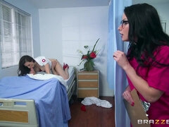 Hot threesome for hot nurse Chanel Preston and stunning doctor Veruca james