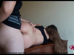 Awesome Arse Teenage Boinked in Yoga Trousers by her lil Stepbrother (internal ejaculation)