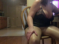 latex Angel - Story time & shiny pantyhose compilation